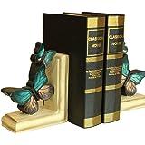 Vintage Blue Butterfly Bookends Creative Bookshelf Jewelry Decroation
