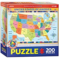 Eurographics Map of the United States of Americaジグソーパズル( 200-piece )