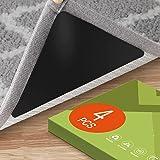 4 Pack Non Slip Area Rug Gripper Pads for Hardwood Floor, Anti Skid Carpet Corner Tape Stickers Washable & Easily Peel Off, B
