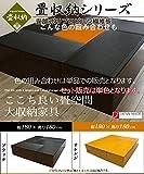 樹脂畳ユニット「aセット」 ・ハイタイプ・ブラック、オレンジカラー (60cm×1台PP-H60,120cm×4台PP-H120) PP-HA-BK-OR 2色有 セットがお得!特別 特価 樹脂 和モダン 収納 ボックス (ブラック)