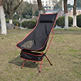 KING DO WAY キャンプ 椅子 アウトドアチェア 多色(5色) 登山 野外フェス 運動会 釣り 耐過重100kg 軽量 レッド