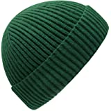 MOSNOW Women's Winter Hat Slouchy Messy Bun Beanie Knit Watch Cap Faux Fur Pom Pom Hat Crochet Hats for Women