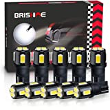 BRISHINE 194 LED Bulbs 6000K Xenon White Extremely Bright 5630 Chipsets 168 2825 175 T10 W5W LED Replacement Bulbs for Car In