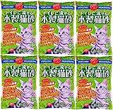 『常陸化工 トイレに流せる木製猫砂 6L×6個 (ケース販売)』画像
