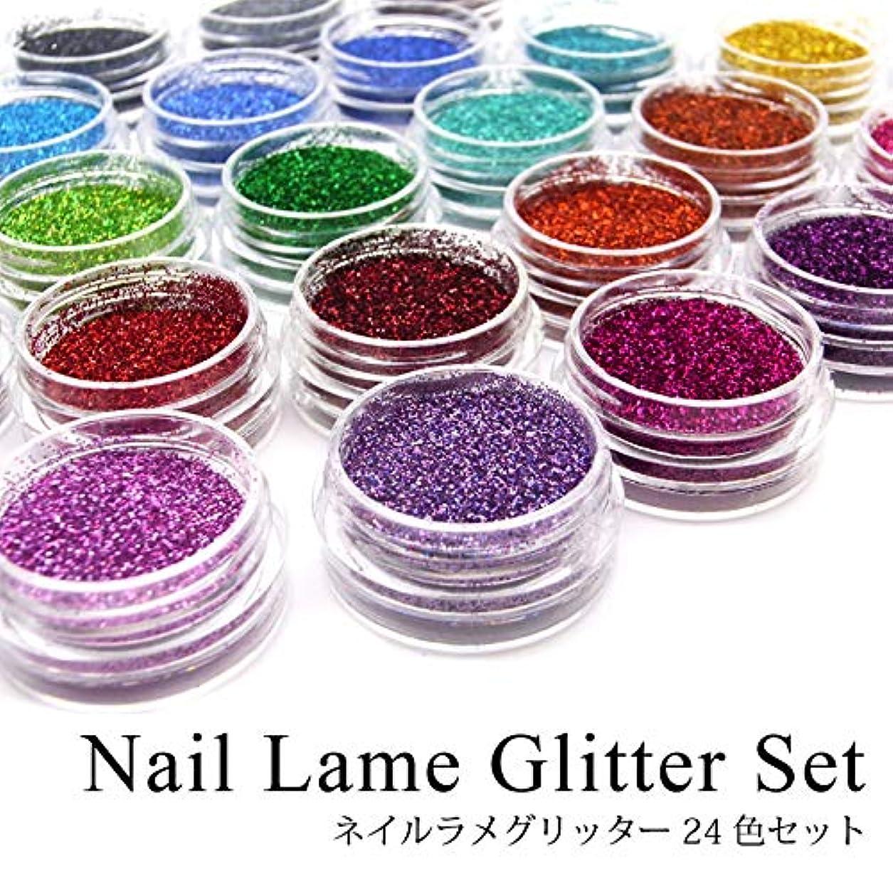 ネイル ラメグリッター 24色セット 各種 (1.ラメグリッター0.1mmセット)