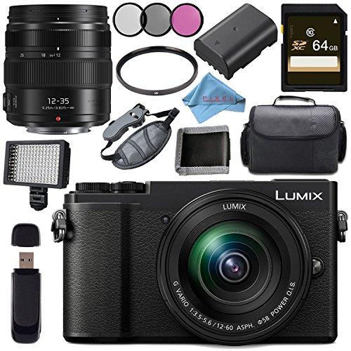 Panasonic Lumix DMC - dc-gx9ミラーレスMicro Four Thirdsデジタルカメラwith 12–60mmレンズ(ブラック) + 64GB SDXCメモリカードバンドル, w/-12-60 + 12-35, ブラック, DC-GX9MK-5