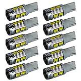 【10連プロジェクターホワイト10個】LED T10 T16 ポジション バックランプ テールランプ ウインカー ルームランプ ナンバー灯
