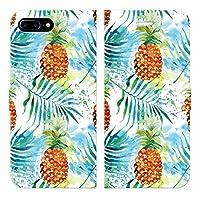 iPhone8Plus iPhone7Plus 手帳型 ケース カバー パイナップル H ブレインズ フルーツ ボタニカル 柄 パイン トロピカル