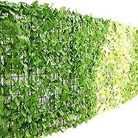 ottostyle.jp グリーンフェンス 緑のカーテン 約3m×1m 【ライトグリーン】 ソフトネットタイプ 目隠し リーフフェンス フェイクグリーン 日よけ サンシェード