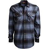 Timberland PRO Mens Woodfort Heavy-Weight Flannel Work Shirt Long Sleeve Work Utility Button Down Shirt