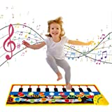 SGDD Music Piano Mat for Kids, Keyboard Piano Play Mat Music Dance Mat Musical Blanket Carpet Early Educational Toys for Todd
