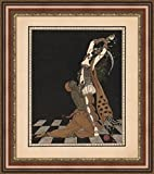 (v17 – 19 – 20 ) Georges Barbier Vaslav Nijinsky and Ida Rubinstein in Scheherazade_フレーム_キャンバス_ Giclee_プリント_ w22 _ X h25.5 +[Large] #06-Brown/Gold V17-20F-MD393-03