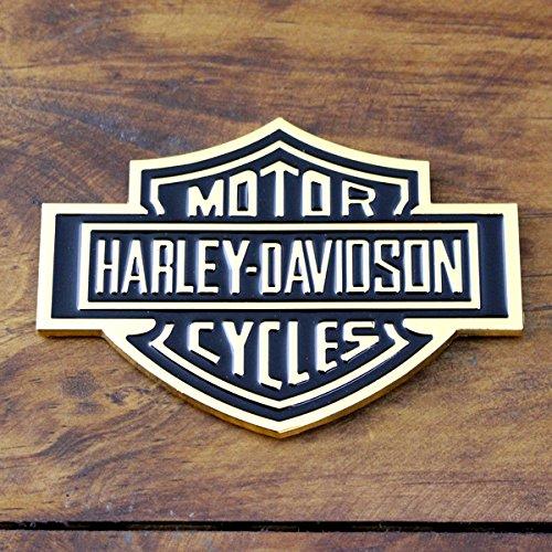 3Dステッカー ハーレーダビッドソン B&S ロゴゴールド /HARLEY-DAVIDSON/