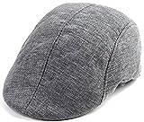 [NET-O] 秋 ハンチング レディース メンズ ユニセックス ゴルフ帽子 プレゼント 父の日 COOLメッシュタイプ 無地 Tシャツ 1枚で決まる  5カラー (グレー)
