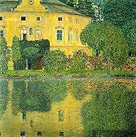 手描き-キャンバスの油絵 - Schloss Kammer on the Attersee IV グスタフ・クリムト woods 森とジャングル 芸術 作品 洋画 LEWE5 -サイズ10