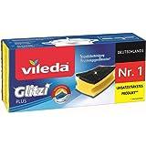 (3er Pack_2) - Vileda Glitzi Plus Washing Up Sponge/Thorough, Hygienic and Absorbent