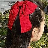 ちりめん 大リボン コーム 蝶結び (エンジ) 卒業式 りぼん 袴 髪飾り かみかざり はいからさん 卒園式