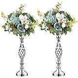 Wedding Centerpieces for Reception Tables,Versatile Metal Flower,Wedding Flower Arrangement Vases, Metal Centerpieces for Wed
