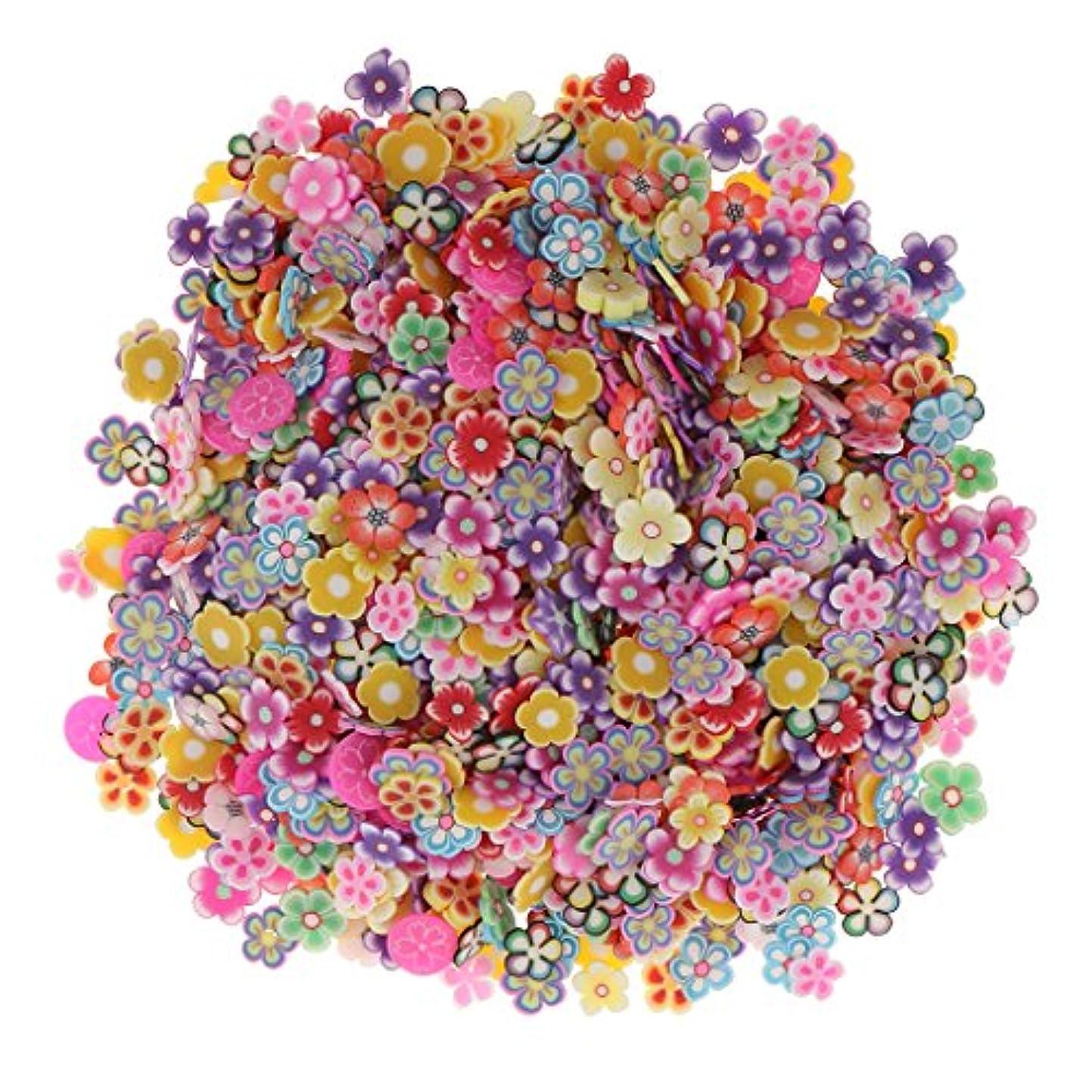 割り当て個性キノコSharplace 約1000個入り ネイルアート 3D花 フラワー DIY 手作り デコレーション