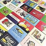 レトロ可愛い絵柄シール ステッカー 48-52枚セット 手紙やギフトに (ヴィンテージポスター風)