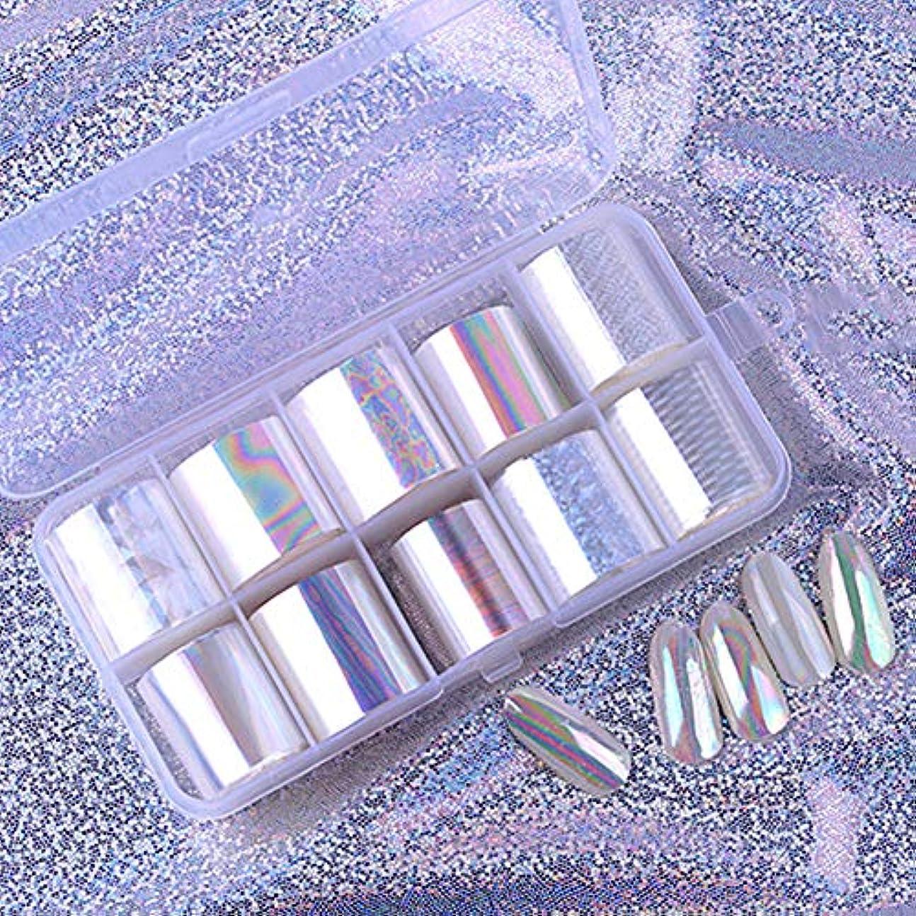 モバイル不要バーベキューOurine ネイルステッカー ネイルスター紙パッケージリーフレット 光沢のある星空紙 ネイルアートジェルセット ポーランドUV LEDゲル ネイルポリッシュ ネイルシール テープ ネイル 10枚セット 収納ケース