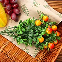 8-Lines WERM シミュレーション花 植物 可愛い果物 おしゃれ 装飾 花束 卓上観葉植物 2個セット ホーム飾り