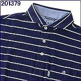 紳士 ブランド ホリゾンタルカラー 半袖ポロシャツ 専用ギフトボックス入り「 父の日 」「 誕生日 」のプレゼントに最適!!有料ラッピング可能 201379.ネイビー L(175-185)/胸囲96-104cm