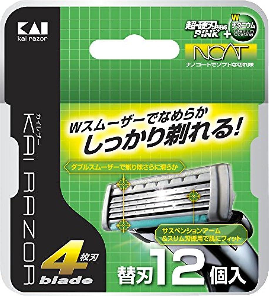 汚すタイルシンクKAI RAZOR 4枚刃替刃 12個