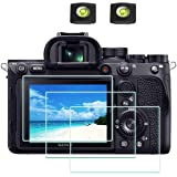 A7RIV Screen Protector Appliable for Sony Alpha A7R IV Digital Camera & Hot Shoe Cover,ULBTER 0.3mm 9H Hardness A7R4 Tempered