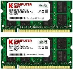 For Samsung 4GB 2x2GB DDR2 667Mhz PC2-5300S CL5 Notebook Sodimm SDRAM Memory