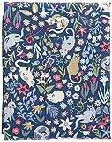 輸入生地 STELLA ステラ 花畑ネコ USAコットン 巾約110cm×50cmカットクロス STELLA-1140-50
