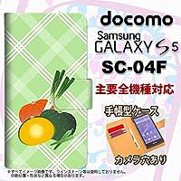 手帳型 ケース SC-04F スマホ カバー GALAXY S5 ギャラクシー カボチャ nk-004s-sc04f-dr665