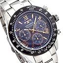 TECHNOS SPECIAL EDITION テクノス メンズ腕時計 天然シェルダイヤル クロノグラフ ベルト調節工具付き ブラック ネイビー T4601TH 並行輸入品