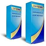 Differin Adapalene Gel 0.1% Acne Treatment, 15 gram, 60-day supply (Pack of 2)