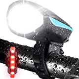 LETOUR Bike Light with Loud Bike Horn, Rechargeable Bicycle Light Waterproof Cycling Lights, Bicycle Light Front with Loud So