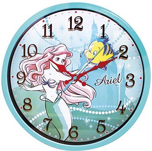 ディズニー 壁掛け時計 レイヤーウォールクロック アナログ表示 連続秒針 アリエル ブルー 736669