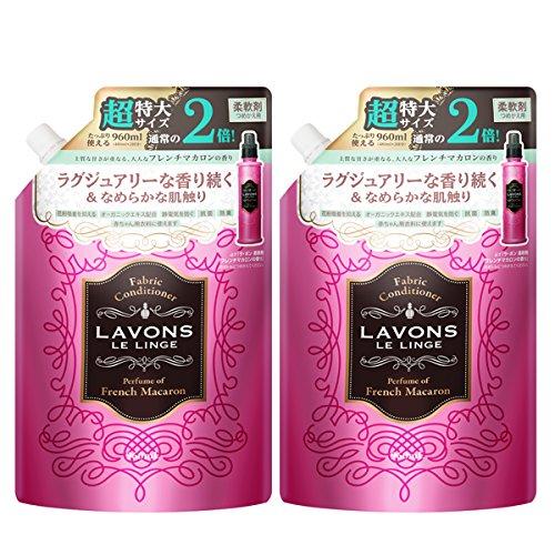 ラボン (Lavons) 柔軟剤詰替え フレンチマカロンの香り大容量 2個