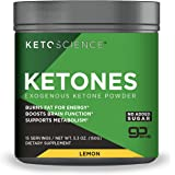 Keto Science Real Ketones Powder Dietary Supplement, Sugar-Free Lemon Drink Mix, Supports Carb-Fighting Diet and Weight Loss,