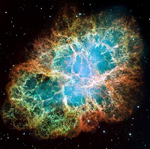 Gifts Delight ラミネート加工 24x24 ポスター:宇宙 - 宇宙 - カニ星雲 カニ星雲 6年 - カニ星雲 6年 - ワイドで広がる星の超新星爆発の残り。