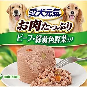 ユニ・チャーム 愛犬元気缶 ビーフ&野菜 375g