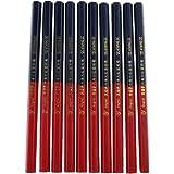 カーペンターペンシル DIY オフィス用品 木製 鉛筆 10個入り 実用性