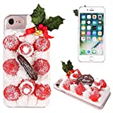 iPhone7 ケース カバー 食品サンプル クリスマスケーキ ハードケース