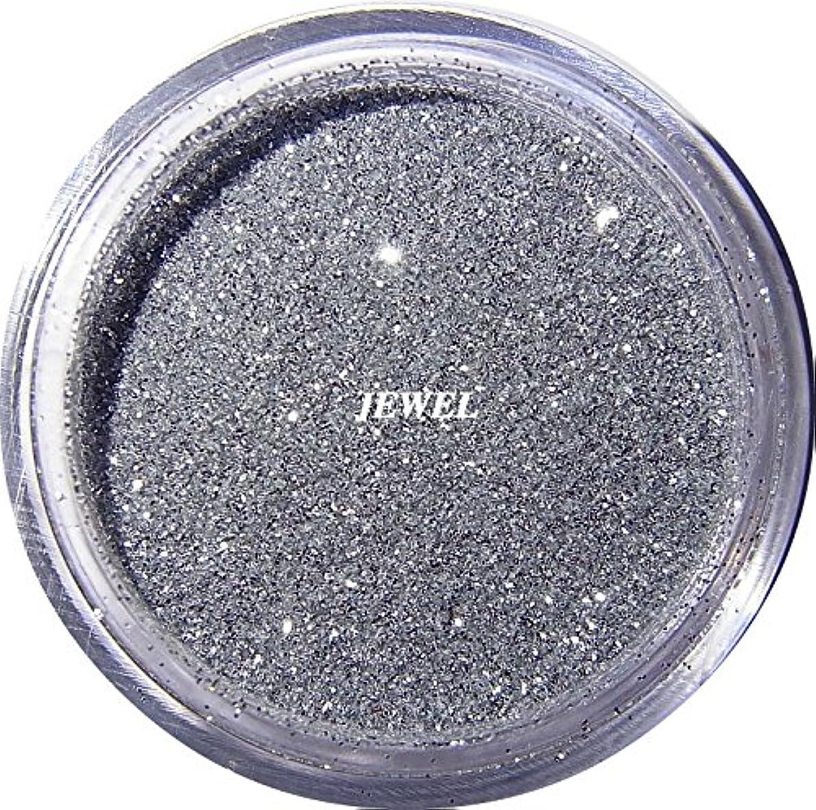 パーツアンデス山脈漫画【jewel】 超微粒子ラメパウダーたっぷり2g入り 12色から選択可能 レジン&ネイル用 (シルバー)