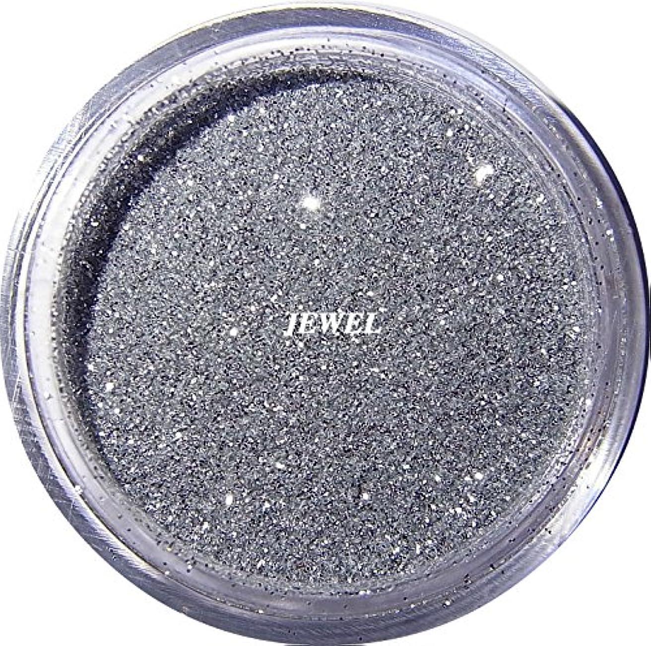 食品正統派不安【jewel】 超微粒子ラメパウダーたっぷり2g入り 12色から選択可能 レジン&ネイル用 (シルバー)
