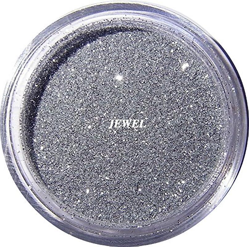 ピストン倒産測る【jewel】 超微粒子ラメパウダー(銀/シルバー) 256/1サイズ 2g入り レジン&ネイル用 グリッター