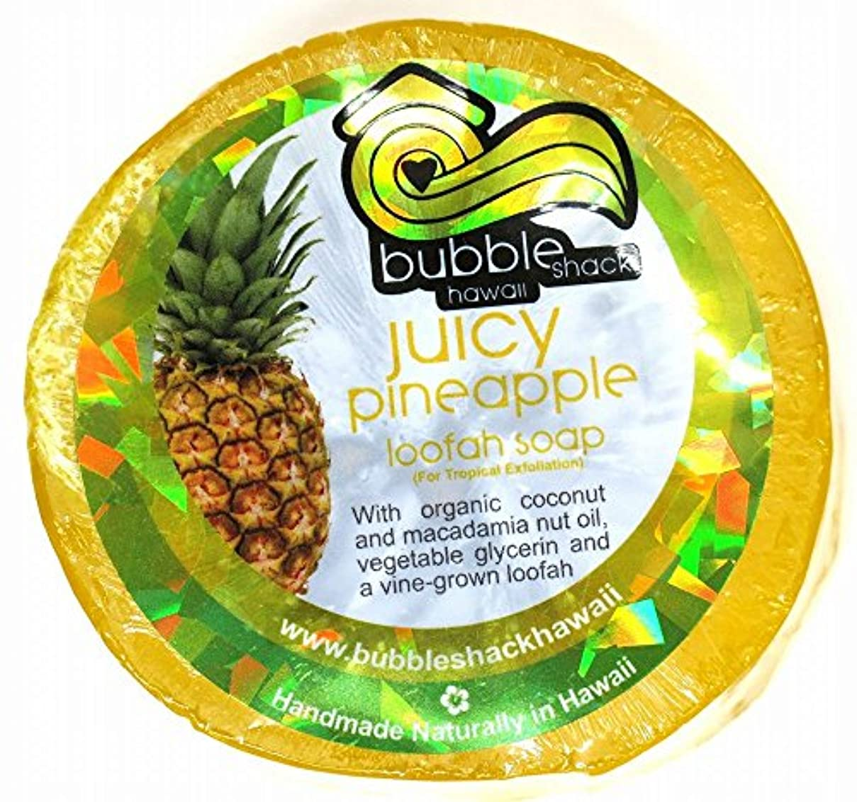 覆す費やす最悪ハワイアン雑貨/ハワイ 雑貨【バブルシャック】Bubble Shack Hawaii ルーファーソープ(パイナップル) 【お土産】