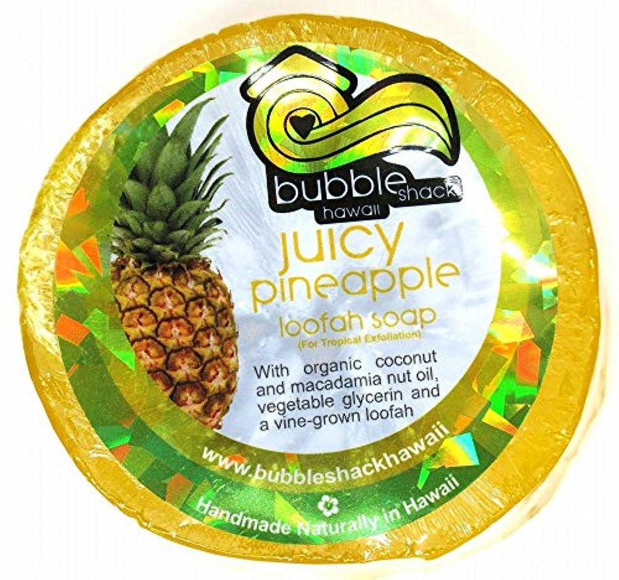全体高揚したライトニングハワイアン雑貨/ハワイ 雑貨【バブルシャック】Bubble Shack Hawaii ルーファーソープ(パイナップル) 【お土産】