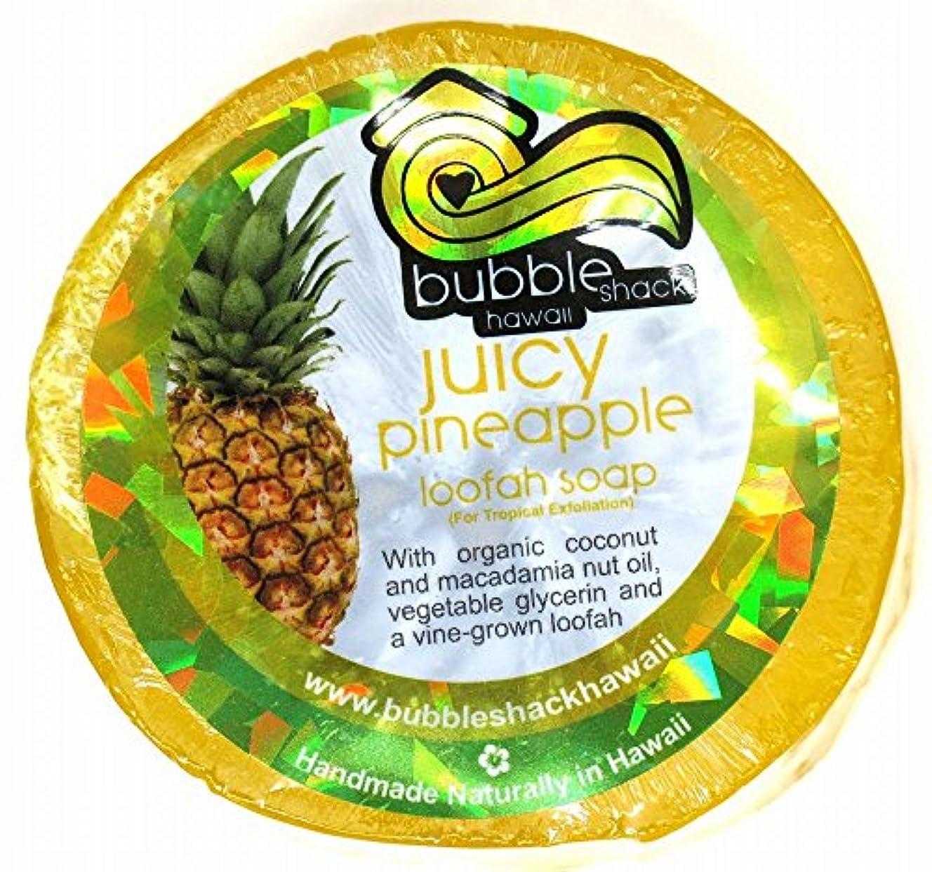 特に果てしない集めるハワイアン雑貨/ハワイ 雑貨【バブルシャック】Bubble Shack Hawaii ルーファーソープ(パイナップル) 【お土産】