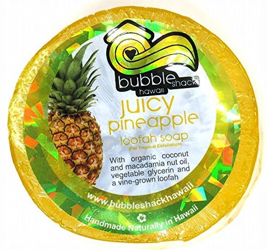 ロゴいつか優越ハワイアン雑貨/ハワイ 雑貨【バブルシャック】Bubble Shack Hawaii ルーファーソープ(パイナップル) 【お土産】