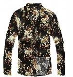 (プチドフランセ) Petit etc Francais メンズ 花柄 トップスシャツ リネン麻シャツ 07 (02 M)